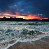 Sea sunset Royalty Free Stock Photo