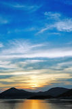 Sea sunset. Sunset in Montenegro, Europe Royalty Free Stock Photography