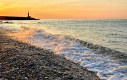 Sea at sunset Royalty Free Stock Image