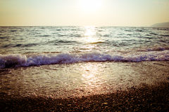 Sea at sunset Royalty Free Stock Photo