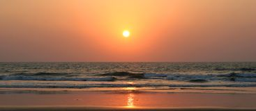 Sea sunset - background Royalty Free Stock Photography