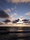 Sea sunset. On Baltic sea Stock Photography