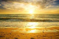 Sea sunset. Stock Photo