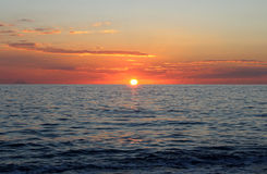 Sea Sunset, Beautiful Natural Scene 3. Sea Sunset, Beautiful Natural Scene Royalty Free Stock Photo