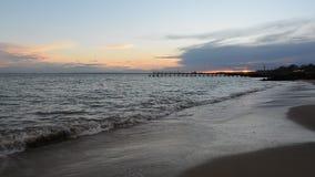 Sea sunset at Black Sea coast near Ravda village, Bulgaria. Sea sunset at Black Sea coast near Ravda village stock footage