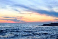 Sea sunset. Sunset on the black sea in Sochi Stock Image