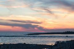 Sea sunset. Sunset on the black sea in Sochi Stock Photography