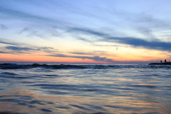 Sea sunset. Sunset on the black sea in Sochi Royalty Free Stock Image