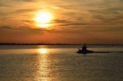 Sea at sunset Stock Image