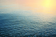 Sea. Sunset calm and beautiful background Royalty Free Stock Images