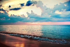 Sea sunset. The Sea carribean bright sunset Royalty Free Stock Image