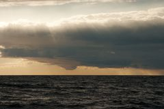 Sea Sunset. Dramatic sunset over Baltic Sea Stock Photography