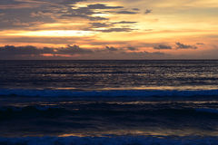 Sea and Sunset Royalty Free Stock Photography
