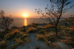 Sea sunset: faded dreams or new hope Royalty Free Stock Images