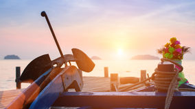 Sea sunset at the fisherman`s Marina. Nature. Stock Photo