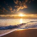 Sea sunset Royalty Free Stock Photography