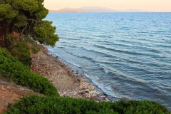 Sea sunset, Greece. Royalty Free Stock Image