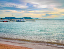 Sea at sunset in HDR Royalty Free Stock Photo