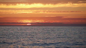 Sea at Sunset stock video footage