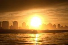 Sea sunset idyll Stock Image