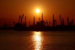 Sea sunset landscape royalty free stock images