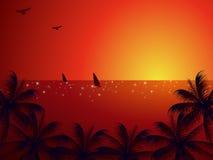 Sea sunset landscape Stock Image