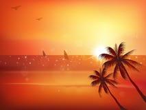 Sea sunset landscape Stock Images