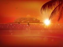 Sea sunset landscape Royalty Free Stock Photo