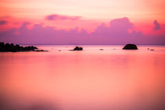 Sea sunset, long exposure in Koh Phangan Royalty Free Stock Photos