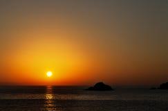 Sea at sunset Stock Photos