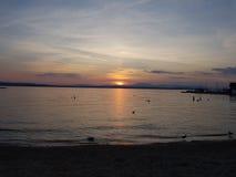 Sea. Sunset Meer Sun sonne Royalty Free Stock Image