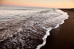 The sea with sunset Stock Image