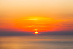 Sea sunset - nature beauty Royalty Free Stock Photography