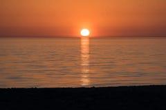 Sea sunset. Sunset over the calm blue sea Stock Photography
