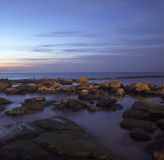 Sea sunset. At Palmachim beach, Israel Royalty Free Stock Image