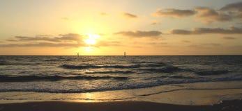 Sea sunset. Panorama. Panorama with sea sunset, Seaford, Victoria, Australia Royalty Free Stock Image