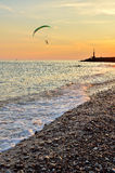 Sea at sunset Royalty Free Stock Photo