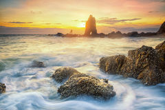 Sea and sunset Royalty Free Stock Image