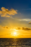 Sea sunset quietly. The calm sea in the sunset sky beautifully Royalty Free Stock Image