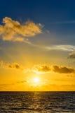 Sea sunset quietly Royalty Free Stock Image