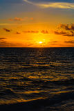 Sea sunset quietly Stock Image