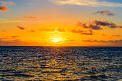 Sea sunset quietly Stock Photography