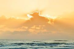 Sea at sunset Royalty Free Stock Photos