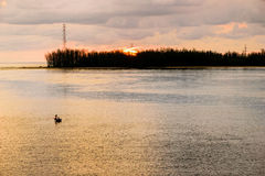 Sea at sunset from Sarasin Bridge Stock Photography