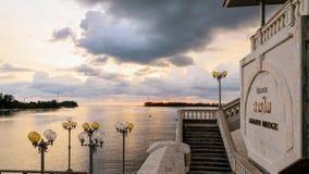 Sea at sunset from Sarasin Bridge Stock Photography