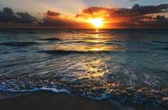 Sea sunset Stock Image