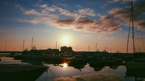 sea , sunset, sky, yachting, yacht stock image