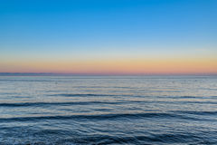 Sea at sunset, southcoast England Royalty Free Stock Photo