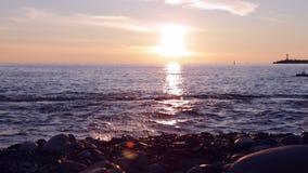 Sea Sunset at summer evening. stock video