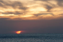 Sea Sunset. At summer time in Thailand Stock Photos